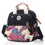 Mini Cross-Body Changing Bag - Black Paisley