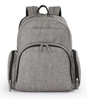 Backpack Changing Bag with Thermal Carry Case – Light Grey