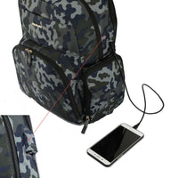 Backpack Changing Bag with Thermal Carry Case – Camouflage