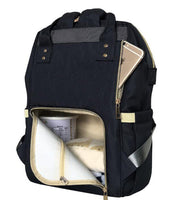Bucket Zip Backpack Changing Bag - Black