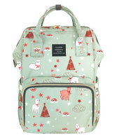 Bucket Zip Backpack Changing Bag - Green Lama