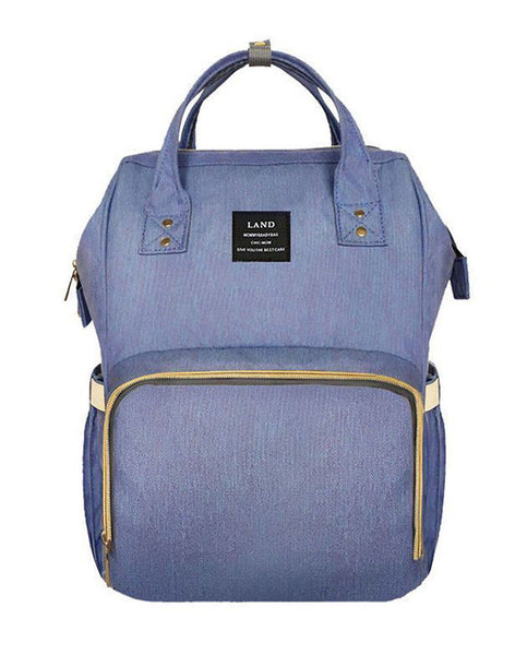Bucket Zip Backpack Changing Bag - Lilac
