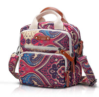 Mini Canvas Quilt Cross-Body Changing Bag - Purple Paisley