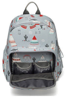 Backpack Changing Bag - Grey & Red Bear Tribe