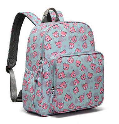 Backpack Changing Bag - Pink Pac Man Ghosts