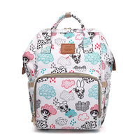 Bucket Zip Backpack Changing Bag - PowerPuff Girls Print