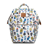 Bucket Zip Backpack Changing Bag - Pineapple Print