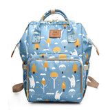 Bucket Zip Backpack Changing Bag - Blue Woodland Bears