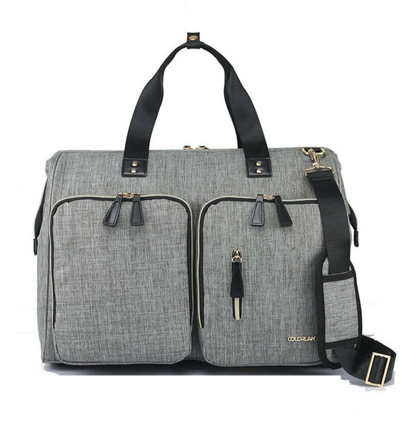 Large Duffel Changing Bag – Grey