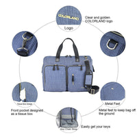 Large Duffel Changing Bag – Blue Denim