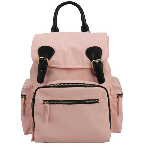 Medium Drawstring Rucksack Changing Bag - Rose Pink