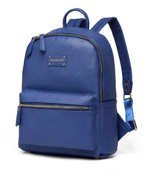 Medium Rucksack Changing Bag by Colorland - Blue with Red Interior