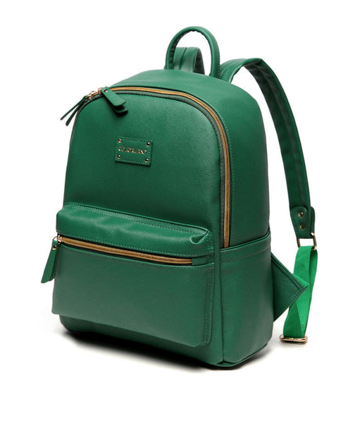 Medium Rucksack Changing Bag by Colorland - Green with Turquoise Interior