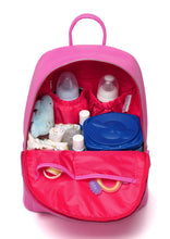 Medium Rucksack Changing Bag by Colorland - Pink with Red Interior