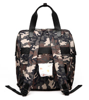 Large Bucket Zip Backpack Changing Bag – Camouflage