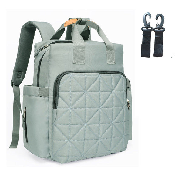 Quilted Rucksack Changing Bag - Grey