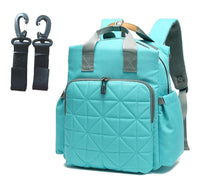 Quilted Rucksack Changing Bag - Turquoise
