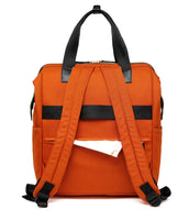 Large Bucket Zip Backpack Changing Bag – Orange