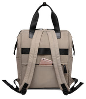 Large Bucket Zip Backpack Changing Bag – Khaki