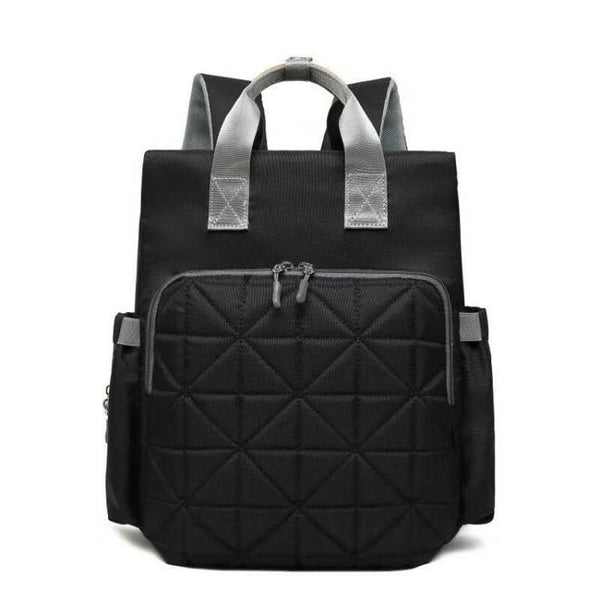Quilted Rucksack Changing Bag - Black