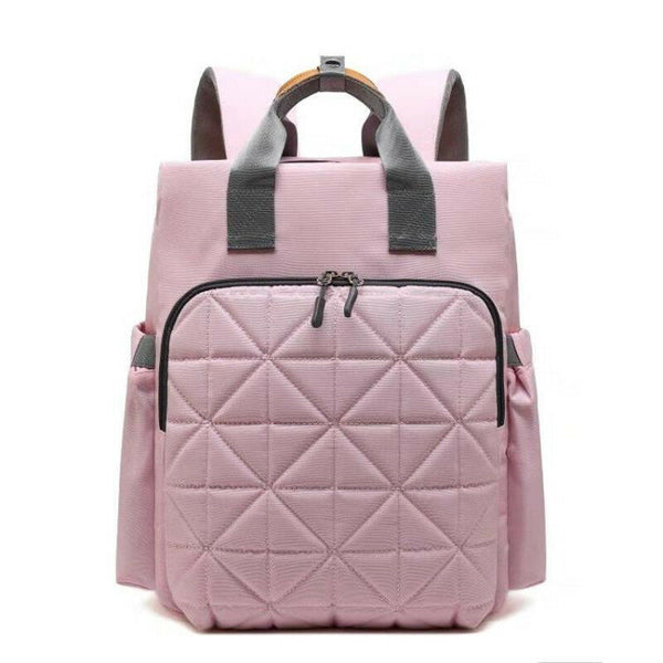Quilted Rucksack Changing Bag - Pink