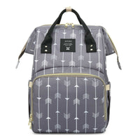 Large Messenger Changing Bag – Light Grey with Silver Zipped Side Pockets
