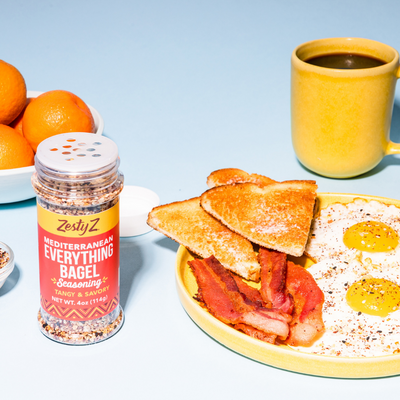 Fried Eggs with Tangy Sumac Everything Bagel Seasoning