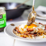 Hash it out at Breakfast with Za'atar Eggs