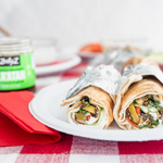 Tangy Yogurt Wrap with Za'atar and Fresh Mint