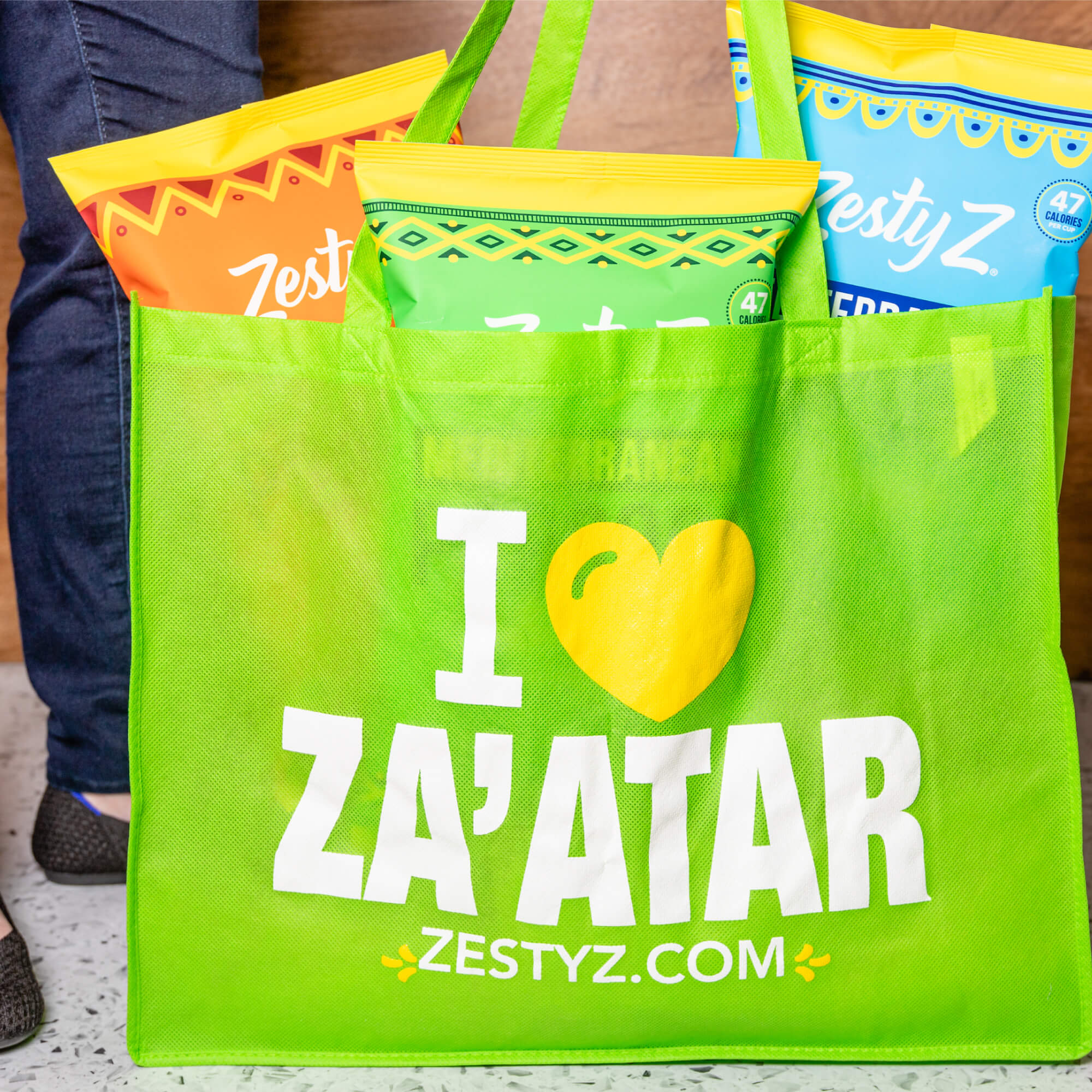 Green Zesty Tote (Large Size)