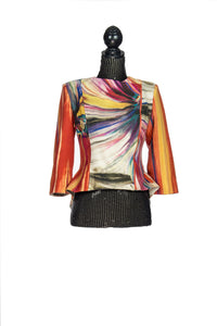 Short Multicolored Neoprene Waist Jacket