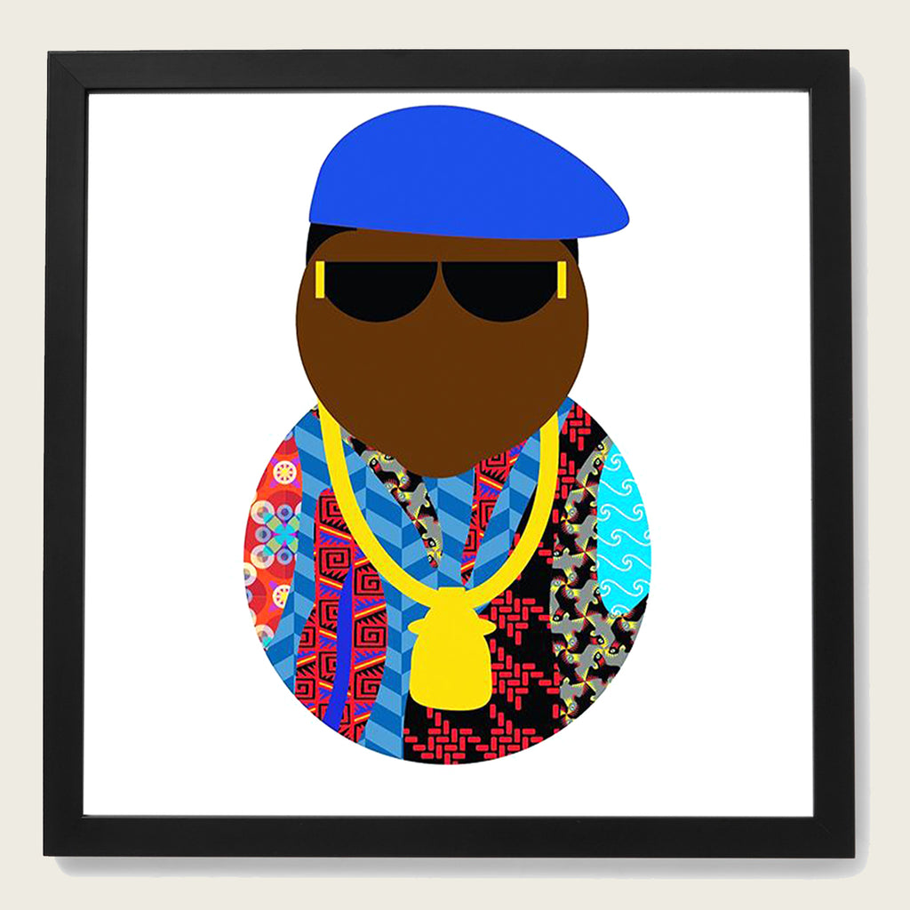 "CURATION EDITIONS Framed 2019 BIG POPPA Print, 16"" X 16"""