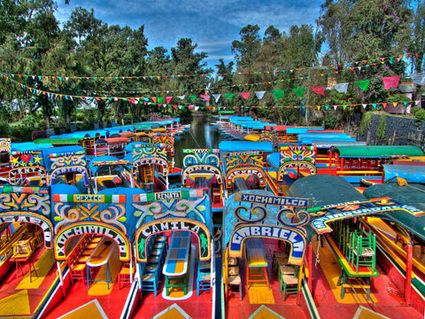 Trajinera Boats in Xochimilco, Mexico City