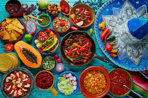 colorful and delicious Mexican cusine