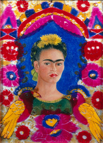 """The Frame"", self portrait by Frida Kahlo"