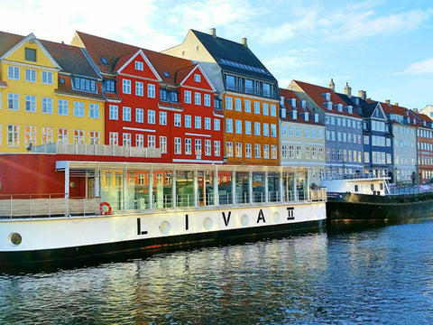 Colorful buildings along the canals