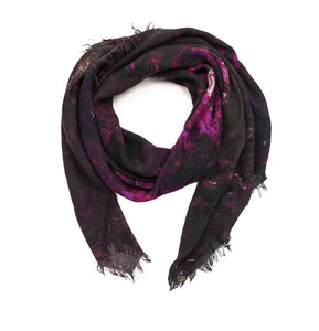 The Aspen map print scarf in modal/cashmere blend. Perfect gift for men and women