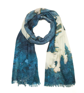 Athens, Greece map print scarf in modal/cashmere blend. Perfect gift or souvenir for women and men.