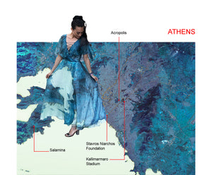 Athens map print dress