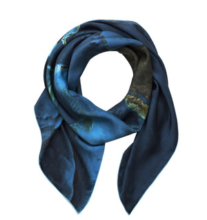 Bahamas map print scarf in satin/silk blend. Perfect gift or souvenir for women and men