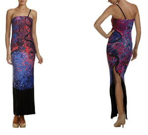 Bangkok Dress, evening dress, long dress, map dress, Bangkok dress