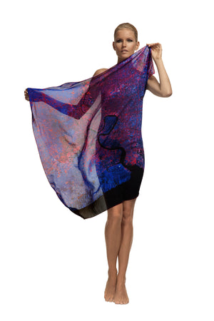 Bangkok, Thailand map print scarf in silk. Perfect gift or souvenir for women and men.