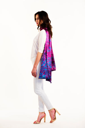 Chicago sleeve scarf, silk scarf, top, shawl