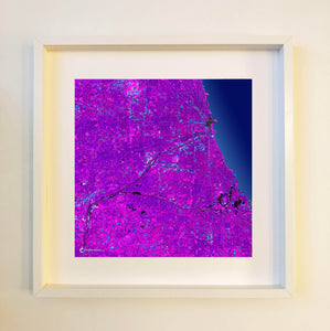Chicago (purple) Framed