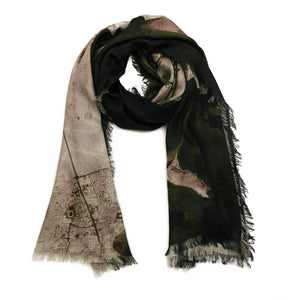 Doha Black/Beige Rectangular Scarf