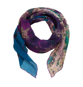 Hong Kong, China map print scarf in silk/georgette blend. Perfect souvenir or gift for women and men.