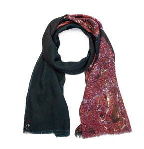 Istanbul, Turkey map print scarf in modal/cashmere blend. Perfect souvenir or gift for men and women.