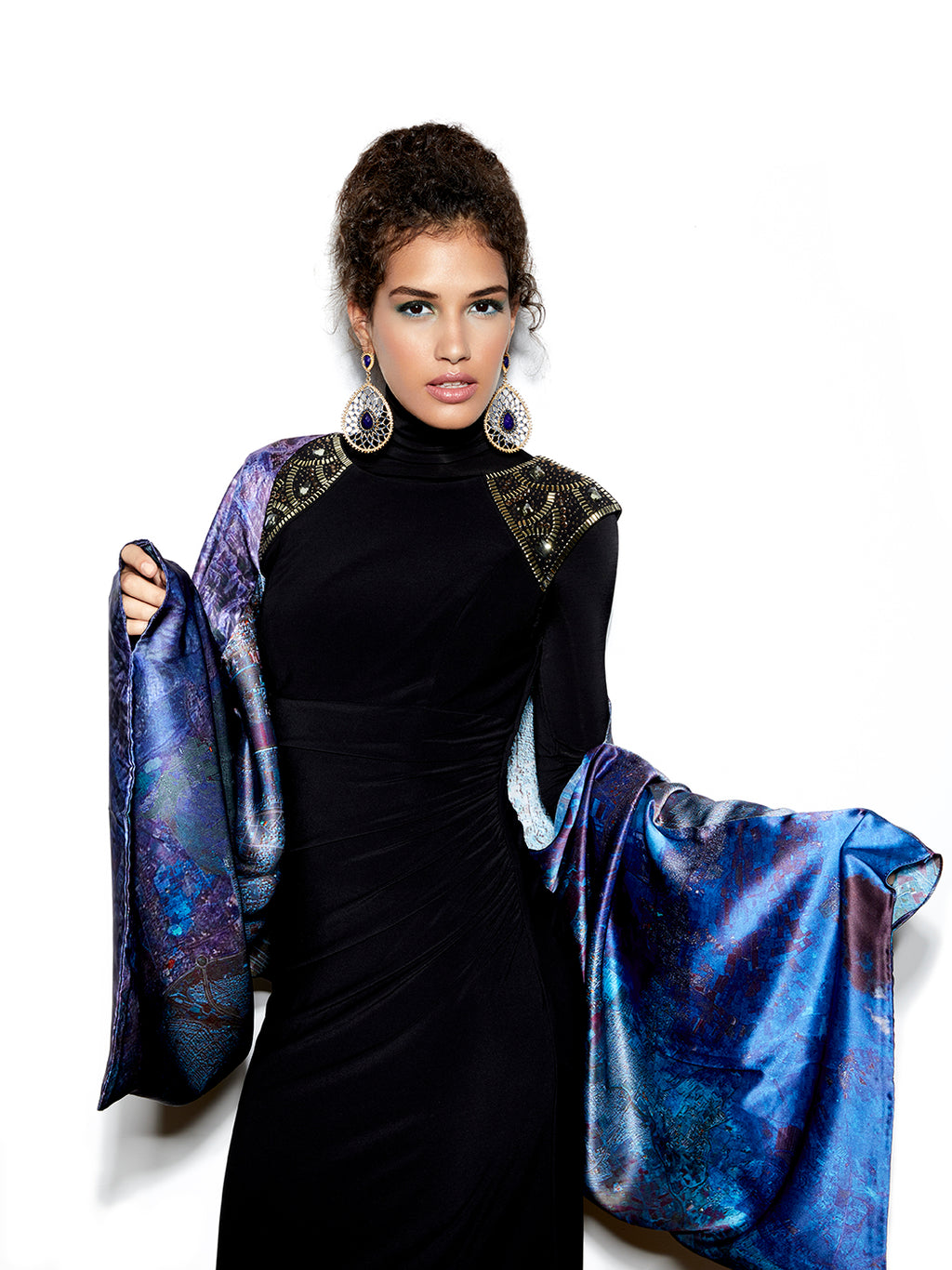 Mashhad Sleeve Silk Scarf, Shawl, Top, Scarf