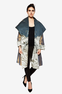 Doha Reversible Cape Coat