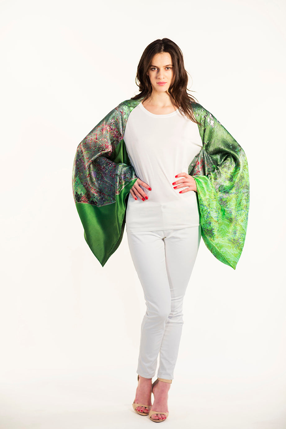 Los Angeles Green Sleeve Scarf/Shawl/Top